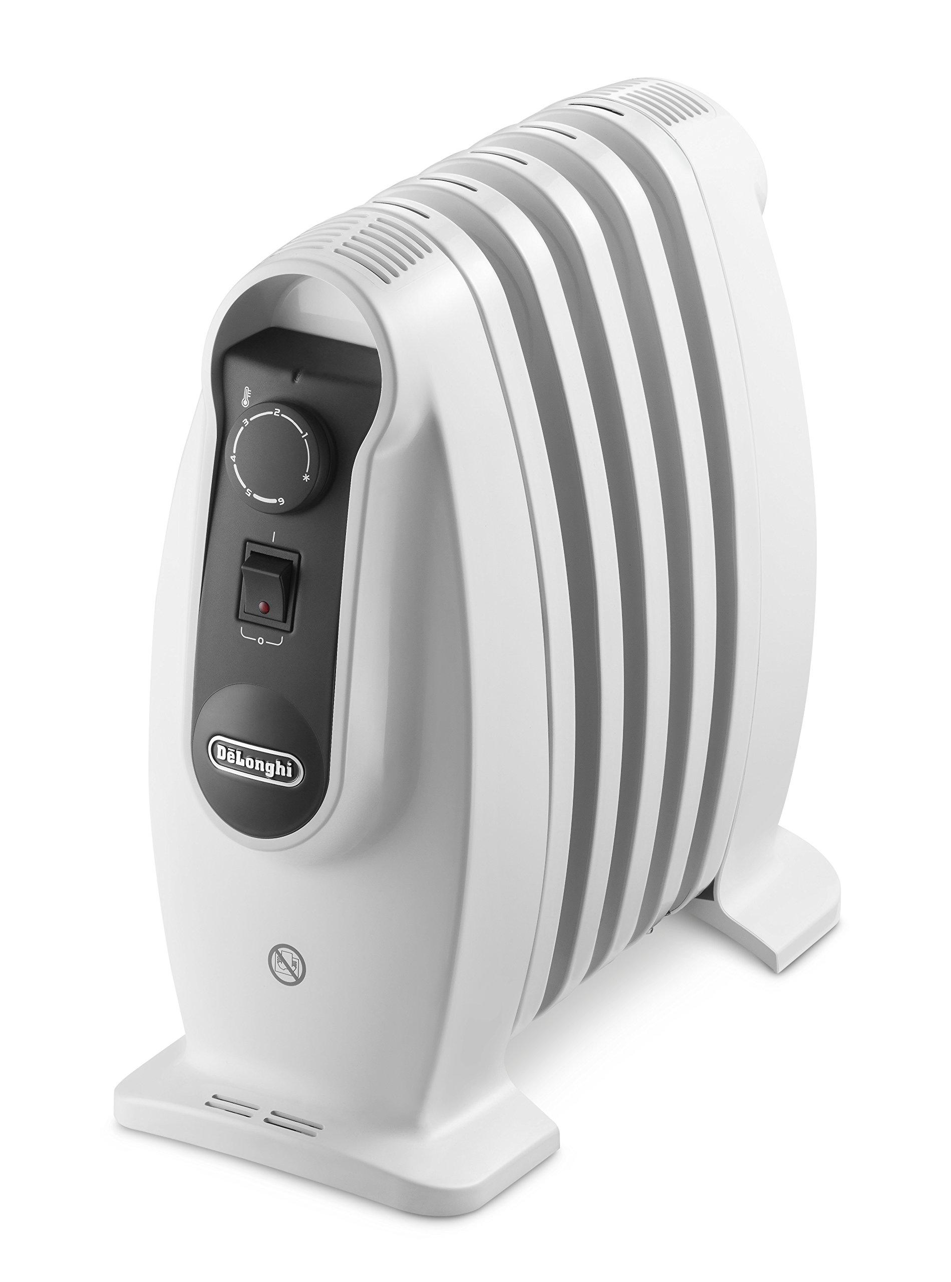 Delonghi TRNS 0505M - Radiador de aceite, 500 w, termostato seguridad, ajustes termostato