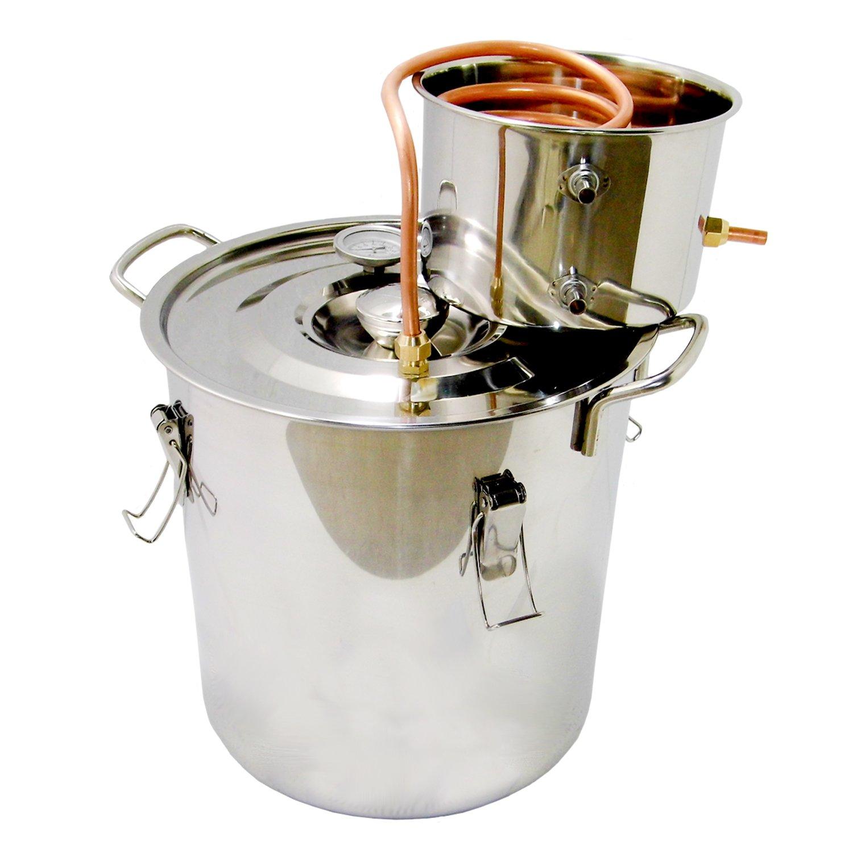 OLizeeTM 5 Gallon 18L Water Distiller Wine Alcohol Distiller Stainless Boiler Wine Making Equipment Kit