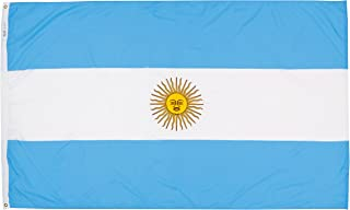 product image for Annin Flagmakers Model 190331 Argentina Flag Nylon SolarGuard NYL-Glo, 5x8 ft, 100% Made in USA to Official United Nations Design Specifications