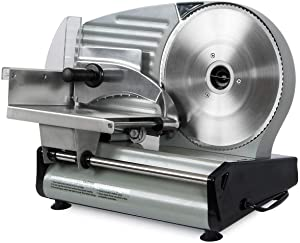 TimmyHouse Rotating Meat Slicer Knife Commercial Serrated Deli Blade 8.7