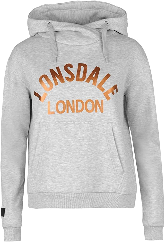 Lonsdale London Damen Hoodie Sweater Pullover Grau