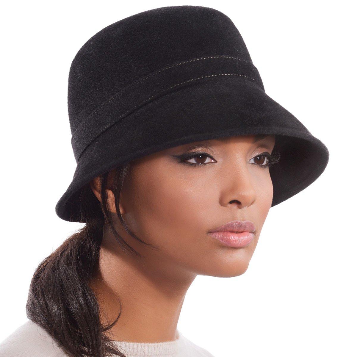 Eric Javits Luxury Designer Women's Fashion Headwear Hat - Hillary - Black
