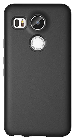 Nexus 5X Case, Diztronic Full Matte Slim-Fit Flexible TPU Case for LG Nexus 5X (2015) - Black - (N5X-FM-BLK)