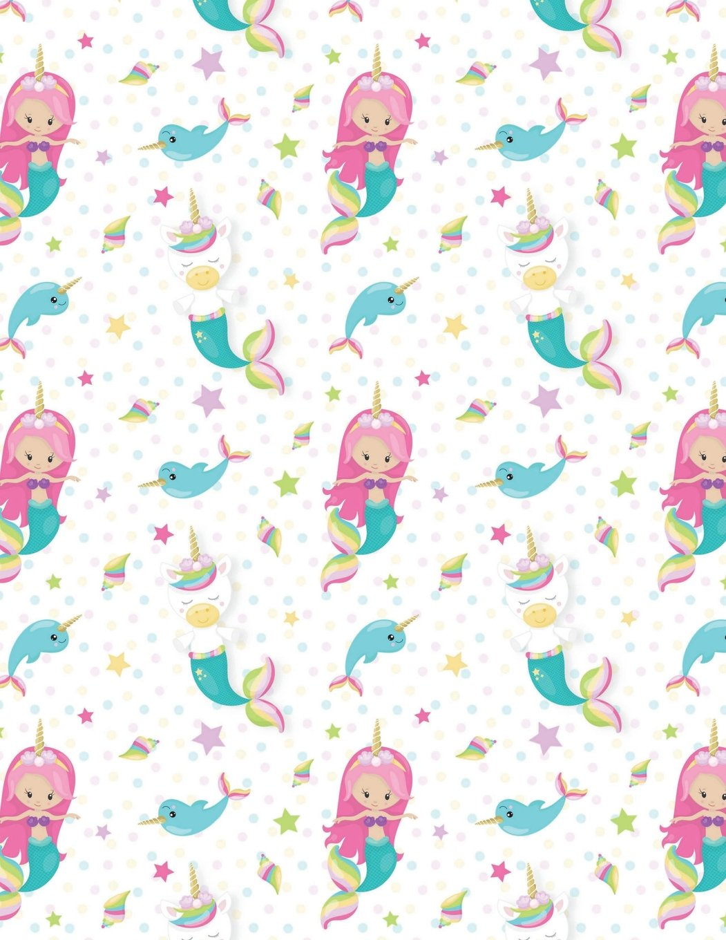 Download Mermaid Unicorn Notebook - 4x4 Graph Paper: 200 Page 8.5 x 11 Quad Ruled Pages School Teacher Student Pink Blue Sea Ocean Math Diagram PDF