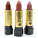 JORDANA LOT OF 3 MATTE LIPSTICK BROWN CAFE TAUPE COLLECTION SHADES JDSET07 FREE EARRING