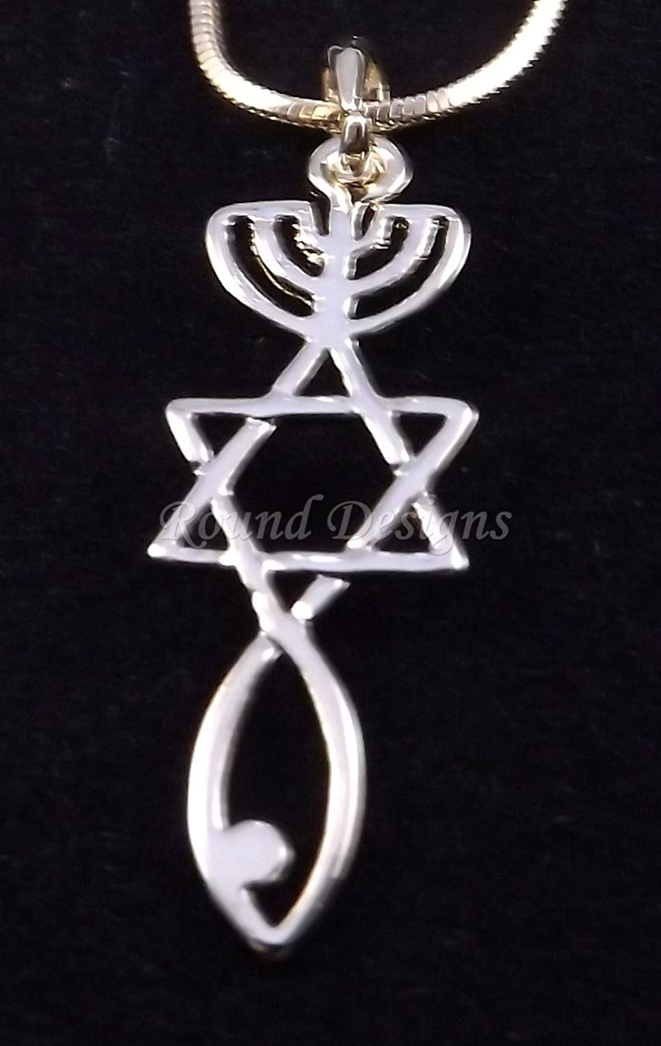 Amazon Messianic Seal Necklace Hebraic Roots Gold Grafted 19