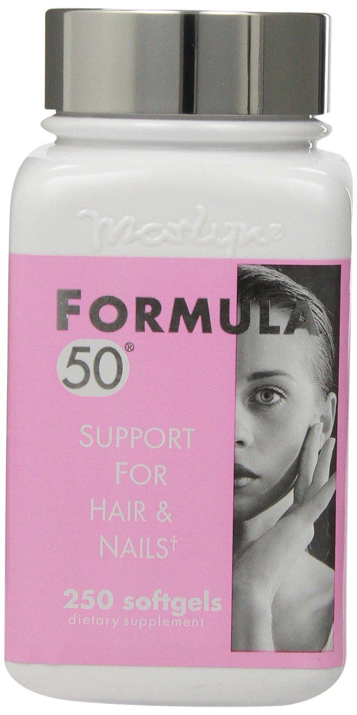 Naturally Vitamins Formula 50 Support For Hair & Nails, 250 Softgels