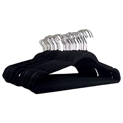 Michael Graves Design Premium Ultra Thin Non Slip Velvet Clothing Hangers,  Flocked +