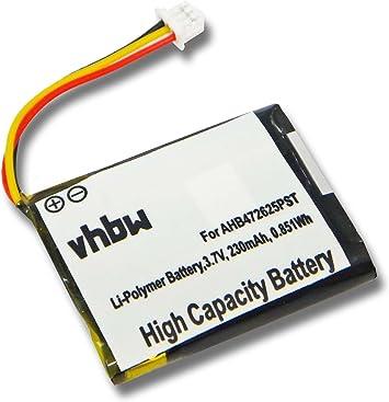 Vhbw Li Polymer Akku 230mah Für Kopfhörer Headset Amazon De Elektronik