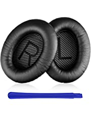 TesRank Coussinets de Remplacement pour Casques Bose Quiet Comfort QC 2 15 25 35 AE2 AE2i AE2w, Noir