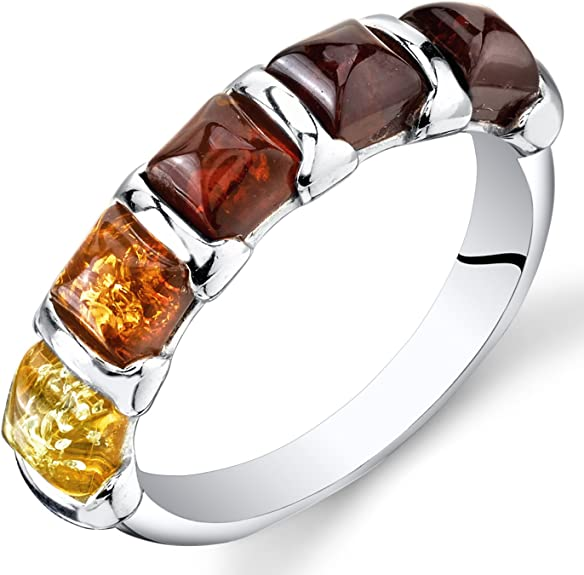Sterling Silver /& Baltic Amber Ring  Petite Baltic Amber Ring Size 5 12  Artisan Made Baltic Amber Jewelry  VintageSouthwest Rings