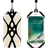 Remeel Phone Lanyard Strap with Universal Silicone Case Holder for iPhone X iPhone 8 iPhone 8plus iPhone 7 iPhone 7plus iPhone 6 iPhone 6s and Even Smartphone (Black)