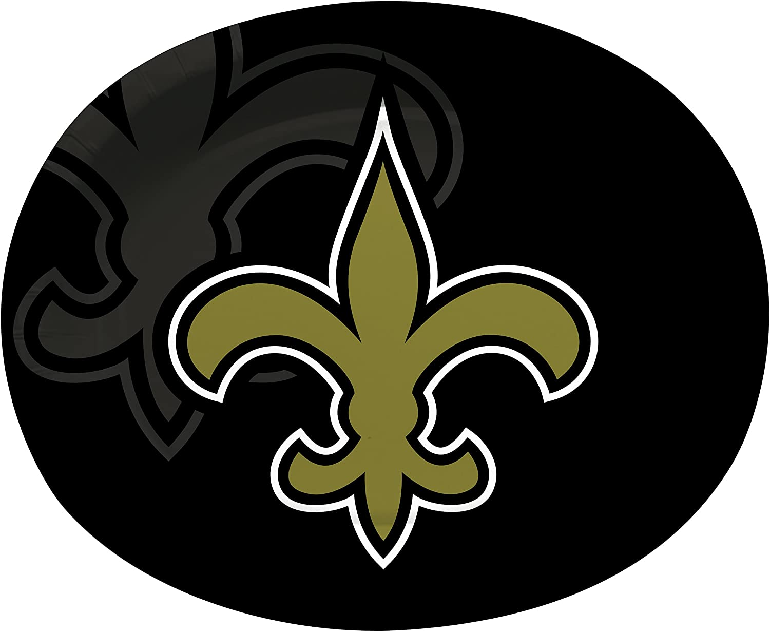 Creative Converting Officially Licensed NFL Oval Paper Platters, 8-Count, New Orleans Saints