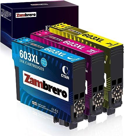 Zambrero 603xl Farbe Patronen Ersatz Für Epson 603 Druckerpatronen Kompatibel Mit Epson Epson Expression Home Xp3100 Xp2100 Xp3105 Xp4100 Xp2105 Xp4105 Epson Workforce Wf 2830dwf Wf 2830 Wf2830 Bürobedarf Schreibwaren