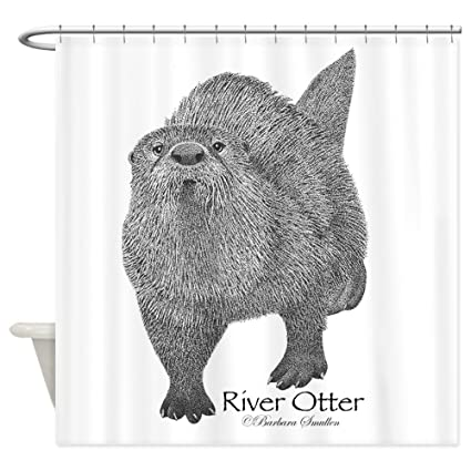Amazon CafePress River Otter Shower Curtain Decorative Fabric