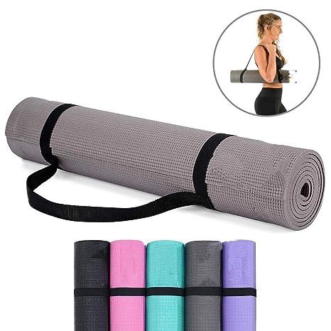 Amazon.com: PSHjs Exercise Mat Yoga Mat and Gym Workout ...
