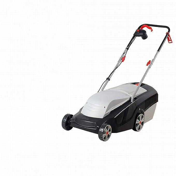 Cortacésped eléctrico de 1300 vatios, cortacésped manual doméstico pequeño, altura ajustable de 4 velocidades, cortacésped de baja vibración y bajo ruido D,1300W