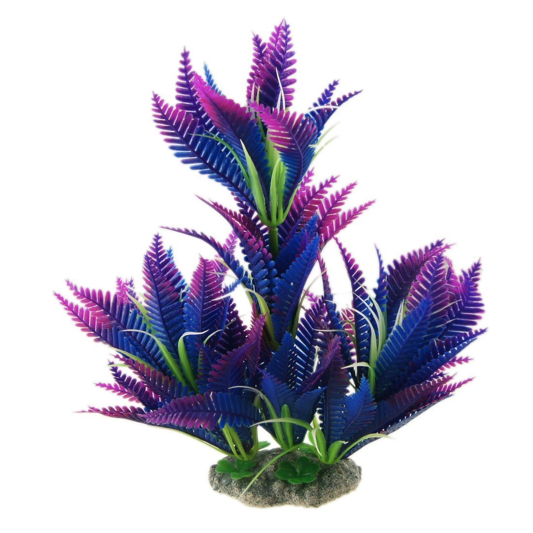 (25cm Purple) CNZ Aquarium Decor Fish Tank Decoration Ornament Artificial Plastic Plant Green