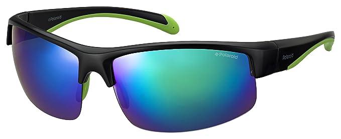 Polaroid PLD 7019/S 5X gafas de sol, BLACK GREEN, 70 Unisex-Adulto
