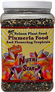 Nelson Plumeria Plant and All Flowering Tropicals Food Ferns Orchids Lilys In Ground Container Patio Grown Granular Fertilizer NutriStar 5-30-5 (4 lb)