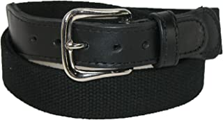 product image for Boston Leather Men's Big & Tall Cotton Web Belt with Leather Tabs
