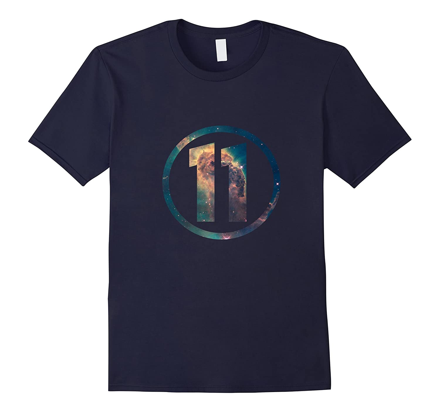 11th Birthday 11 Years Old Happy Birthday Space T-Shirt-TH