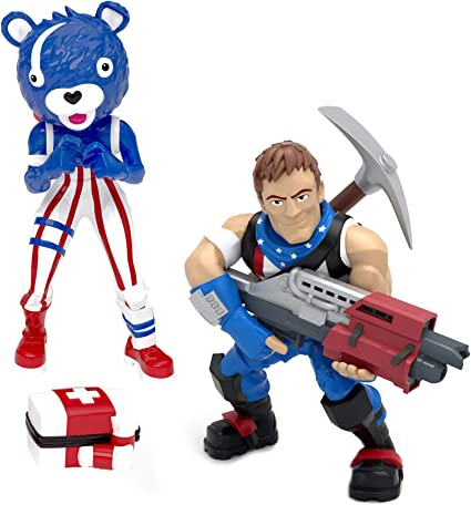 Fortnite Battle Royale Collection Star Spangled Trooper Fireworks Team Leader 2 Pack Of Action Figures