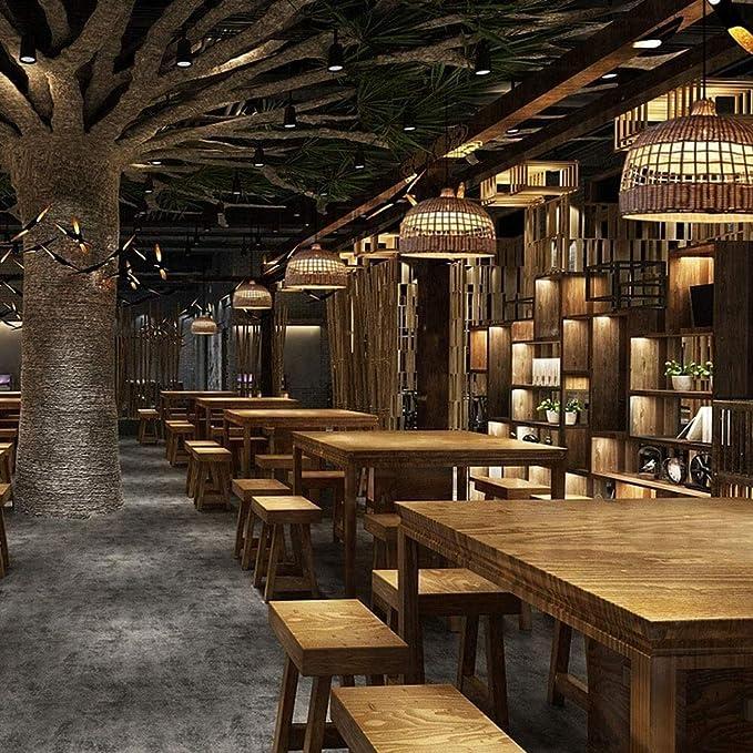 Lanlingwang Vara de Mimbre Hecha a Mano araña de luz pérgola Café ...