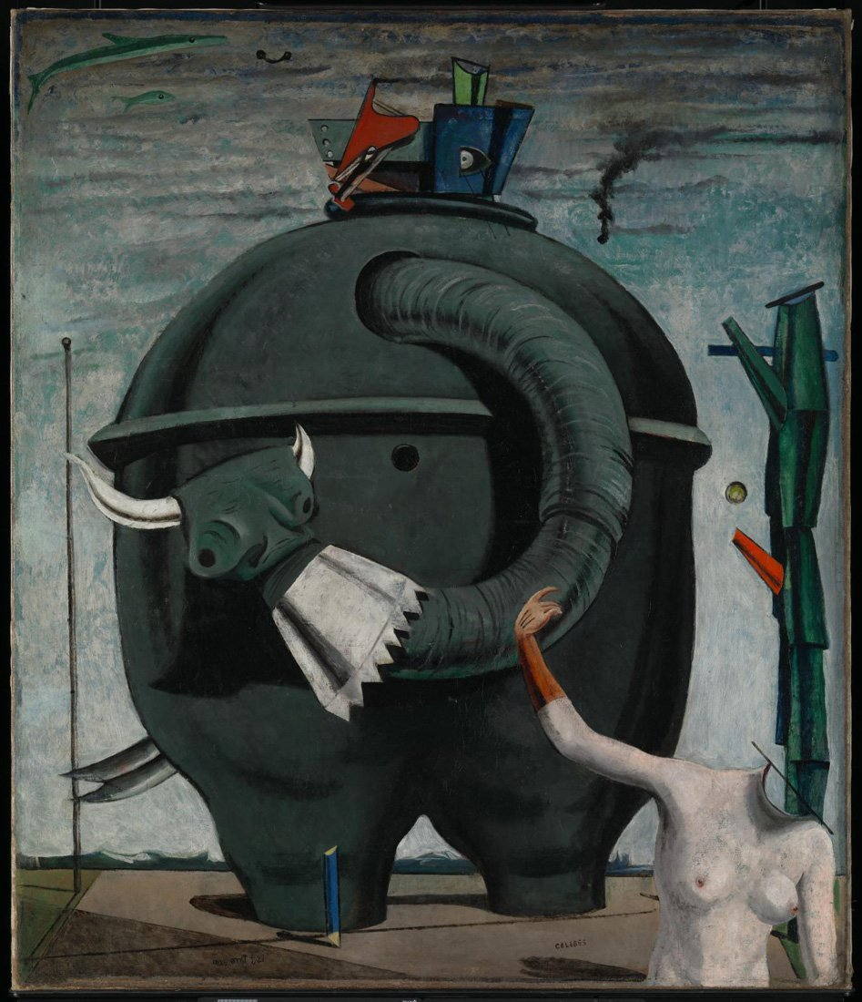 "MAX ERNST Surrealism Art Poster or Canvas Print /""Zoomorphic Couple/"""