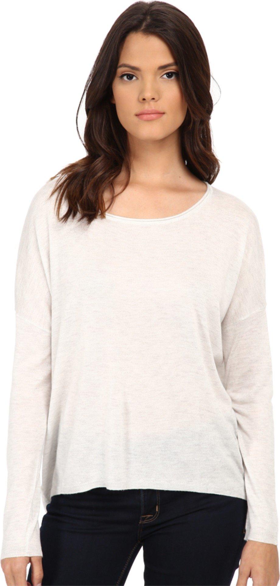 Splendid Women's Blend Pullover, Heather White, Large