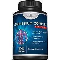 Premium Magnesium Citrate Capsules – Powerful 500mg Magnesium Oxide & Citrate Supplement...