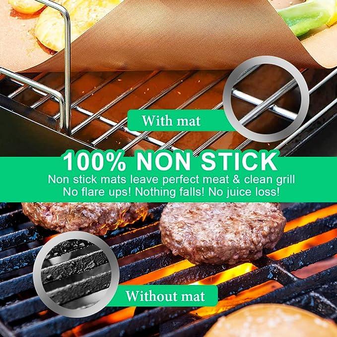 Hirundo Non-stick BBQ Baking Mats 1//2//3 packs