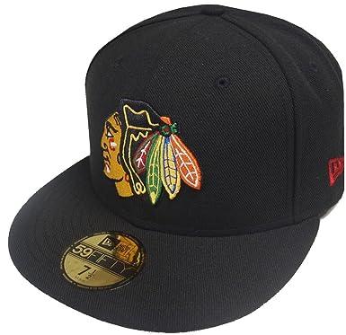 huge discount d031f c4e4d New Era NHL Chicago Blackhawks OTC Black 59fifty Fitted Cap Limited Edition  Men  Amazon.co.uk  Clothing