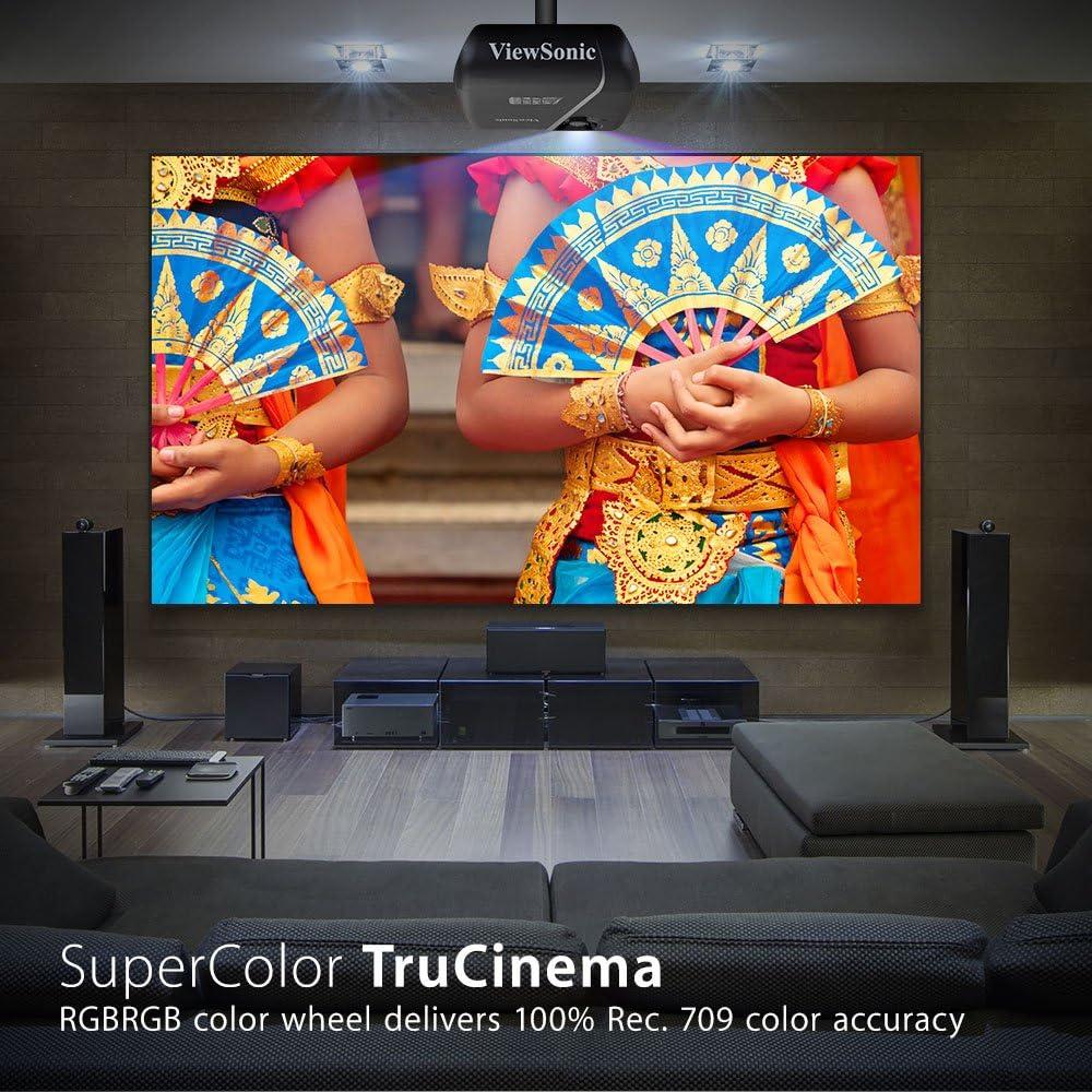 ViewSonic Pro7827HD Proyector LightStream Full HD 1080p Home Cinema (Rec. 709, 1920x1080, 3D Vertical Lens Shift, 3xHDMI MHL, altavoces), color negro mate: Viewsonic: Amazon.es: Electrónica