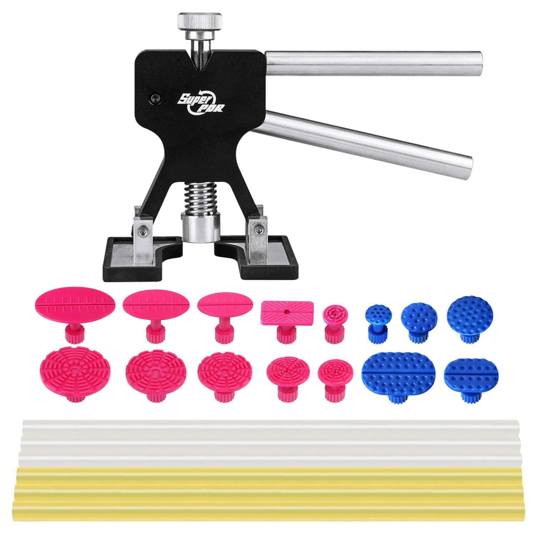 Super Pdr22pcs Paintless Dent Repair Kits Dent Lifter Hammer Suction Cup Glue Stricks