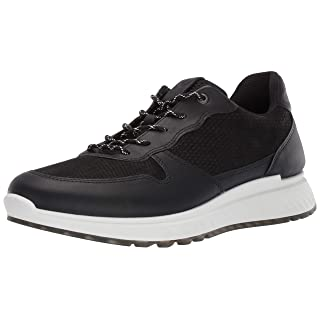 ECCO Men's St1 Sneaker Black Perforated, 43 M EU (9-9.5 US)