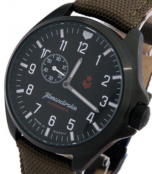 Vostok KOMANDIRSKIE K34 ruso Militar reloj negro 2415/346609: Amazon.es: Relojes
