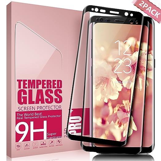 7 opinioni per Vetro Temperato Galaxy S8, Aonsen [2 pack] 3D Copertura Completa Pellicola
