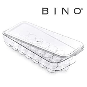 BINO Plastic Egg Holder with Lid for Kitchen - 21 Egg Holder For Refrigerator