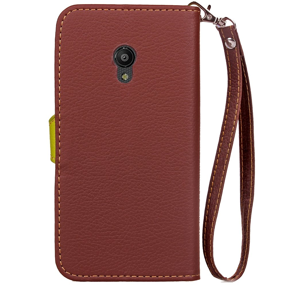 Amazon.com: TOTOOSE Vodafone Smart Turbo 7 New Flip Cover New (Brown): Electronics