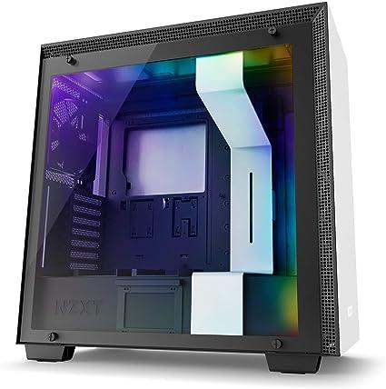 NZXT H700i - Caja PC Gaming de tamaño mediano ATX - Dispositivo inteligente con tecnología CAM - Panel de vidrio templado - Blanco/Negro - Versión 2018: Amazon.es: Informática