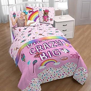 Wonderful Nickelodeon Jojo Siwa Girls Pink Twin Bedding Sheets