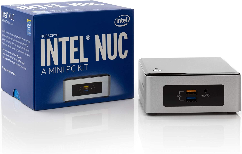 Intel NUC NUC5CPYH Mini PC, Intel Dual-Core N3050 Upto 2.16GHz, 4GB DDR3, 120GB SSD, AC WiFi, Bluetooth, Dual Monitor Capable, Windows 10 Professional 64Bit (4GB Ram + 120GB SSD)