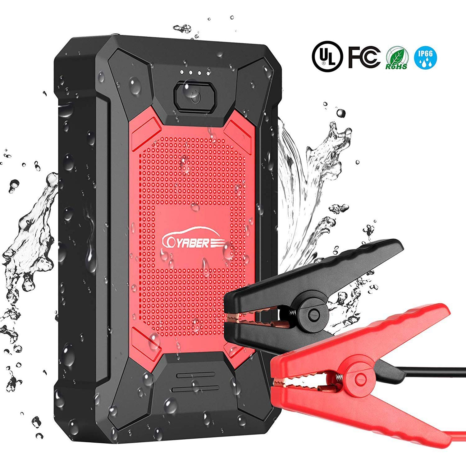Safe Auto Phone Number >> Jump Starter Car Battery Jump Starter 600a 12000mah Ip66 Waterproof Ul Certified Safe Auto 12v Portable Car Jump Starter With Smart Usb Port And Led