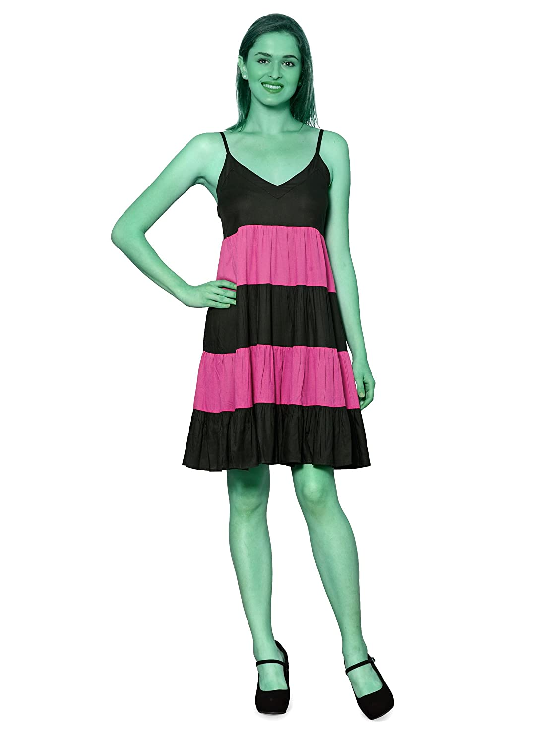 b2353d97ae941 PATRORNA Women's Flared Cocktail Midi Dresses with Black Net Shrug in Black Fuchsia  Pink (10PA05BLRN): Amazon.in: Clothing & Accessories