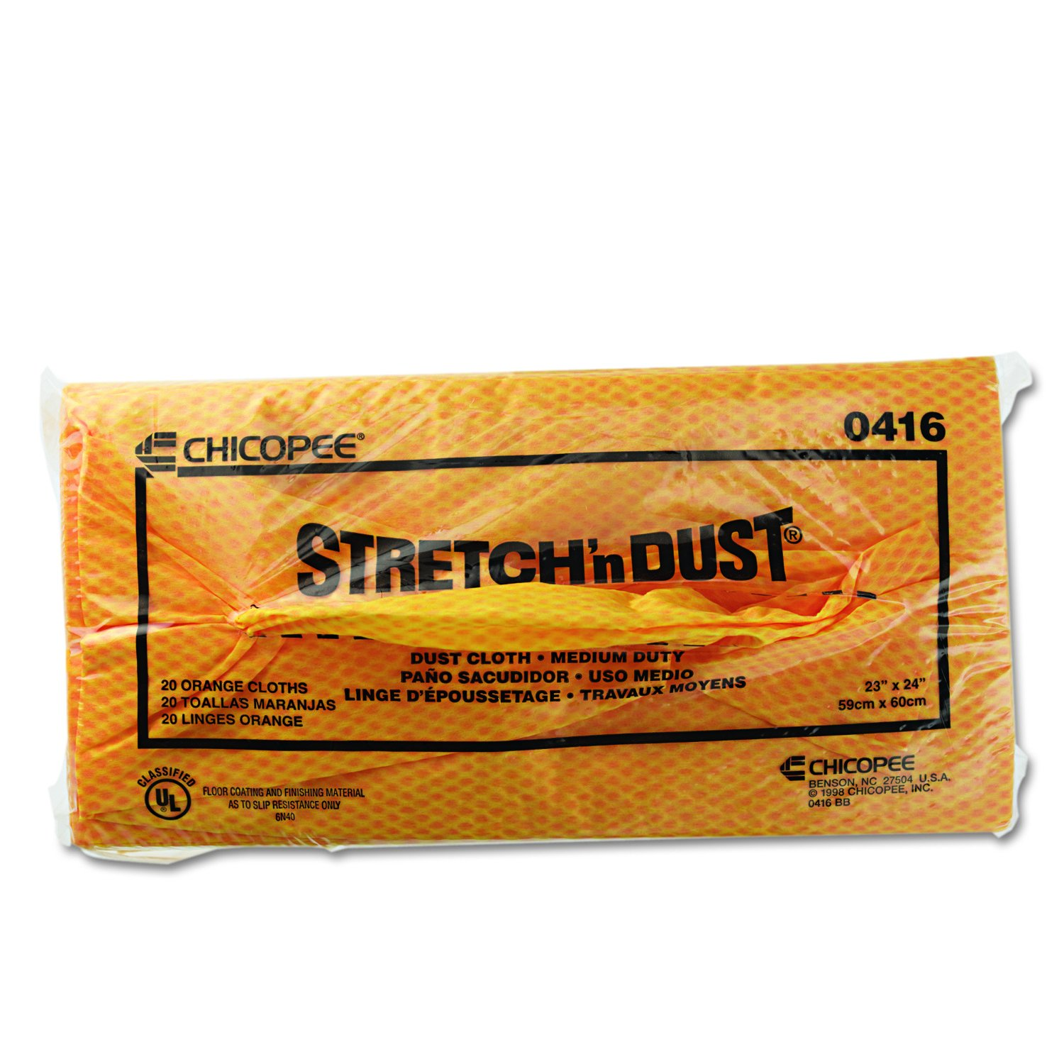 Amazon.com: Chicopee Stretchn Dust 0416 Medium Duty Dust Cloth, Yellow/Orange 24-Inch x 24-Inch (100 Count, 5 bags of 20): Industrial & Scientific
