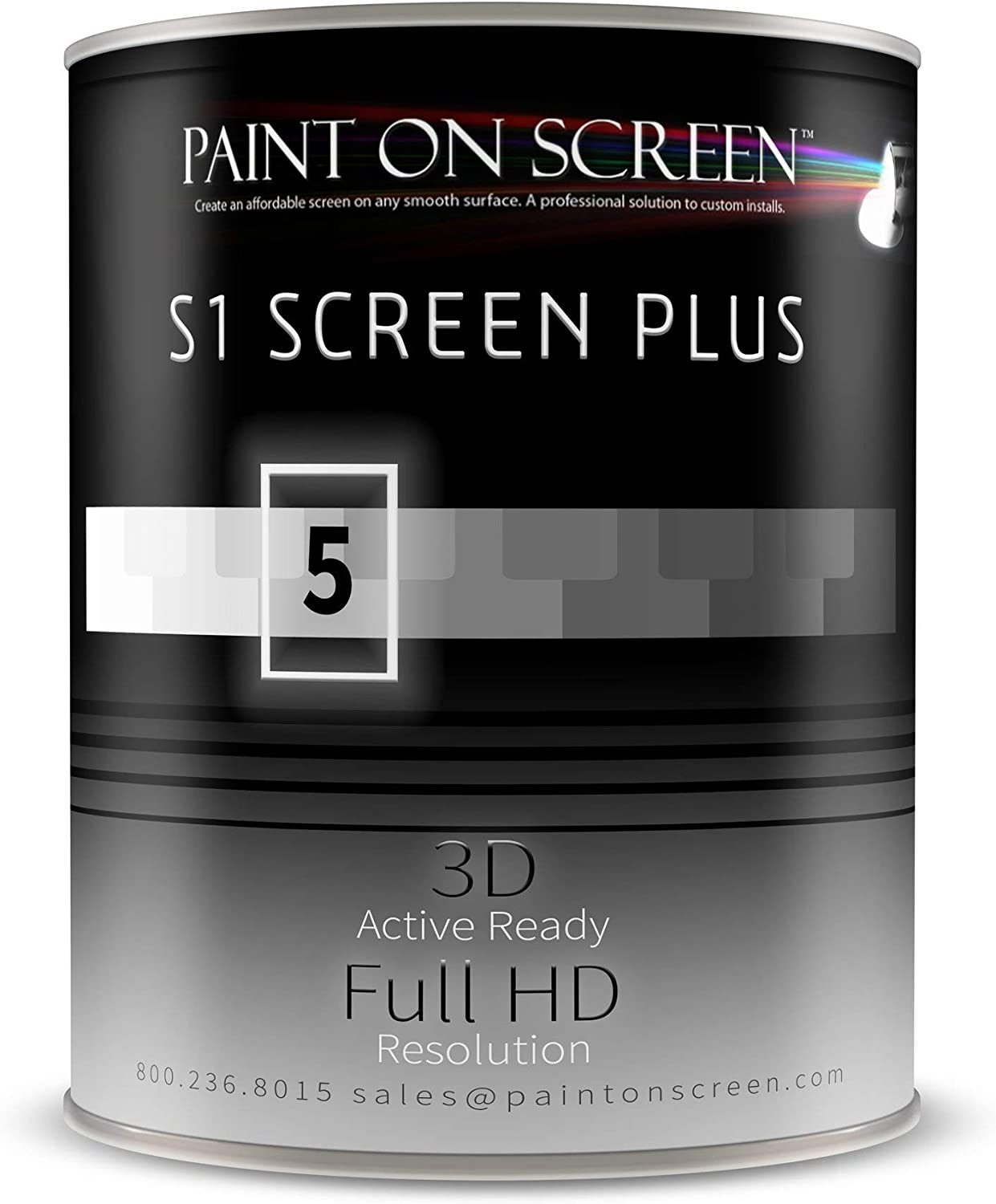 Paint On Screen Projector Screen Paint G005 (S1 Screen Plus Silver - Gallon)