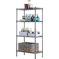 Singaye 4 Tier Adjustable Wire Shelving Metal Storage Rack