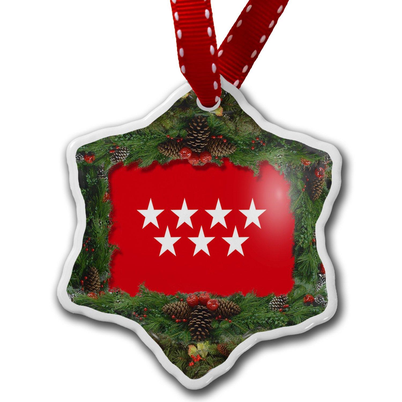 Amazon.com: Christmas Ornament Madrid (Spain) Flag - Neonblond ...