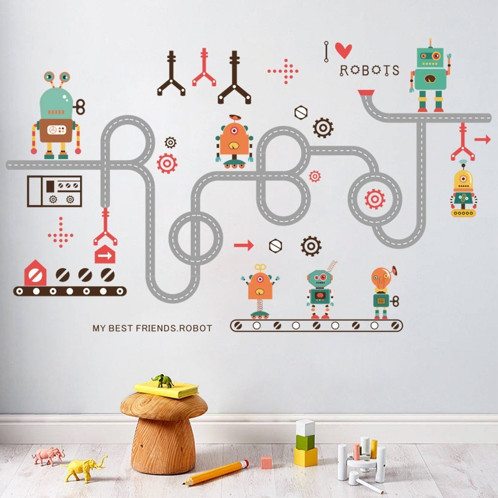 Amazon Ussore Wall Stickers Robot Switch Stickers Light Switch